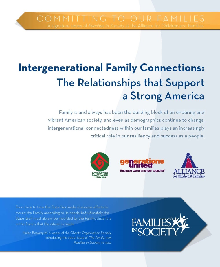 Intergenerational Family Connections Report (Print Version)